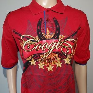 COOGI 3XL Style Button Front Short Sleeve Cotton